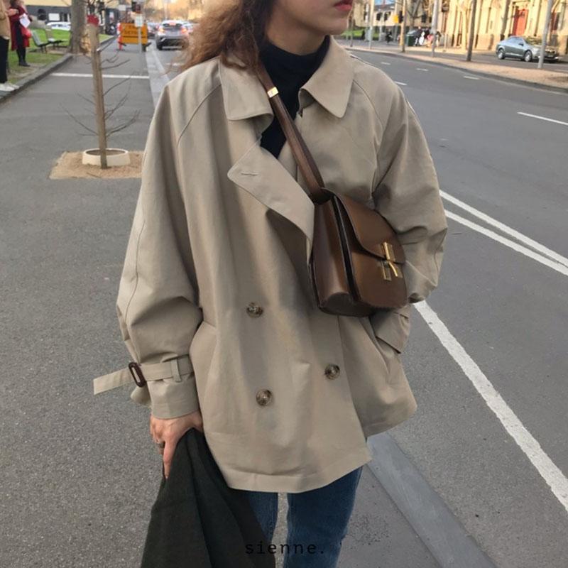 今年流行工装风衣外套女2020春秋季新款短款矮小个子气质韩版宽松