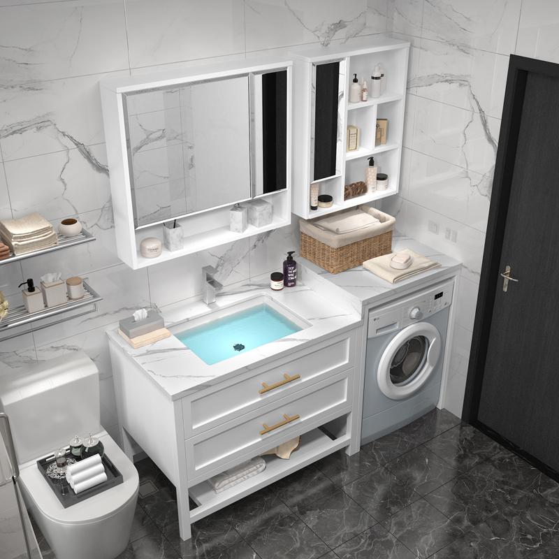 (用1元券)阳台柜子一体组合洗衣池洗衣机