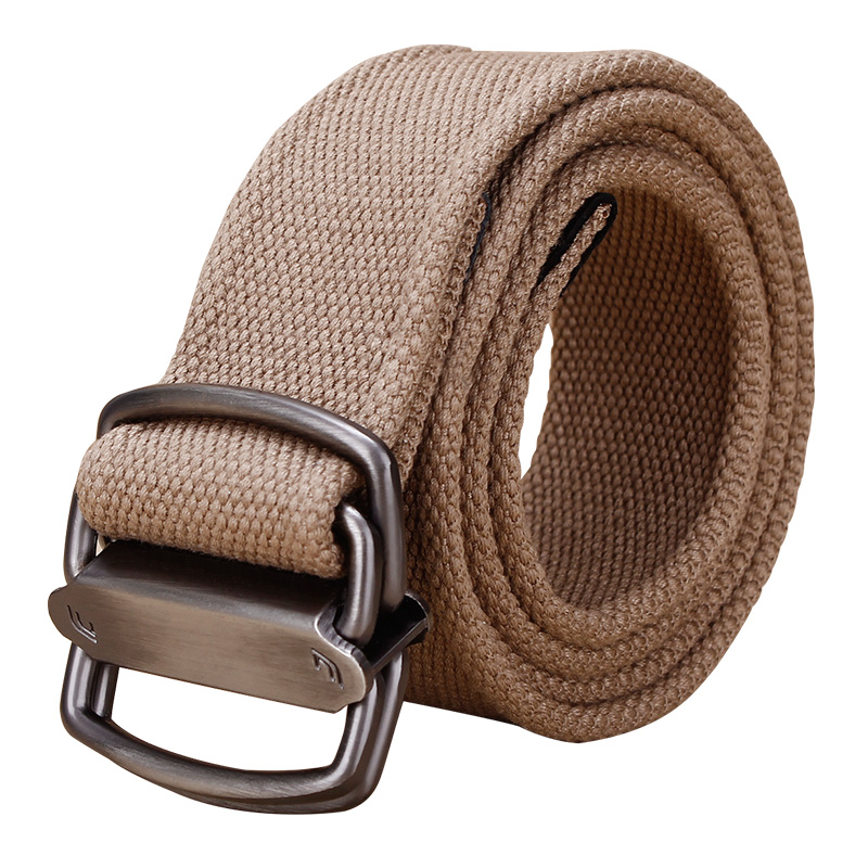100 clothes cool youth canvas belt personalized double ring buckle belt fashion trend wide mens Jeans Belt
