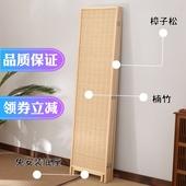 新中式竹编折叠屏风客厅办公室简约现代移动玄关隔断卧室家用装饰