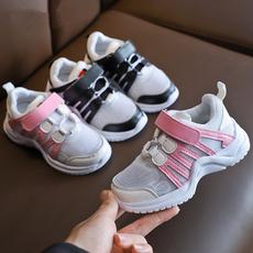 网面透气跑步鞋中大童儿童软底网鞋潮