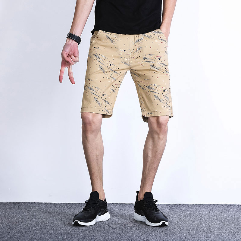 Mens shorts summer ultra thin middle pants loose sports Capris casual breeches printed camouflage Capris