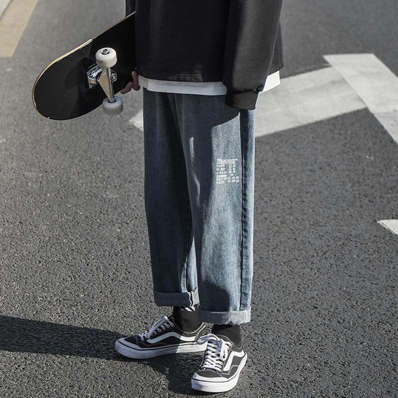 复古牛仔男士直筒宽松潮流阔腿裤11月28日最新优惠