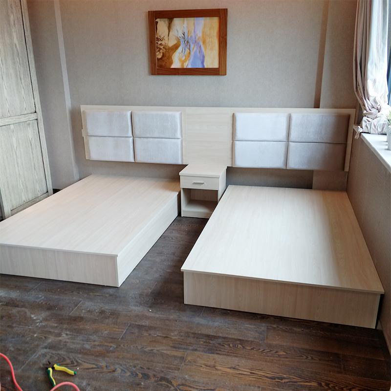Custom Express Hotel Bed Bed Bed один Люди Кровати стандартный между полностью Люкс-кровать панель Мебель для гостиниц спец. предложение