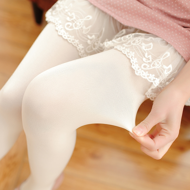 日系白袜子春秋少女120d中厚裤袜满15.00元可用4.1元优惠券