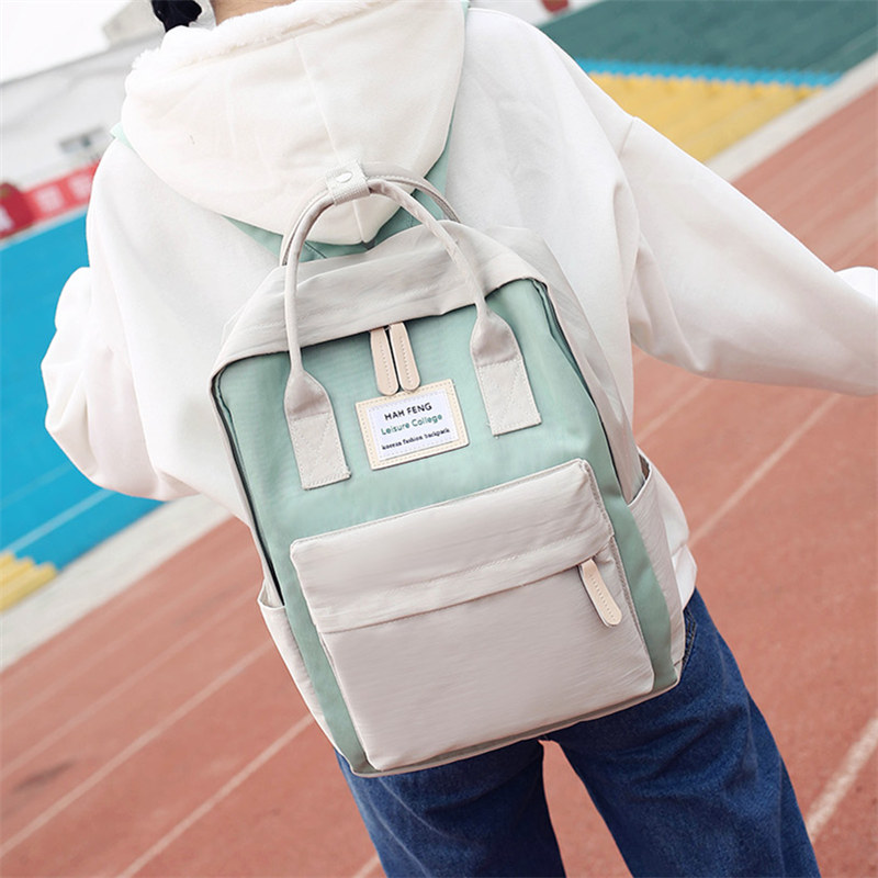 Xiaoqingxin schoolbag female Korean version Yuansu Ulzzang High School Student Backpack campus Forest Department ins super fire Backpack