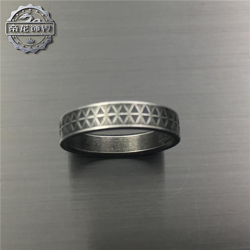 复古条纹钛钢戒指个性霸气男女潮流时尚朋克配饰品手慢无