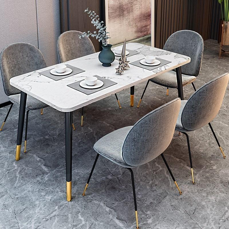 限8000张券北欧大理石餐桌 小户型 现代式餐桌椅子 家用单个胡桃色大理石餐