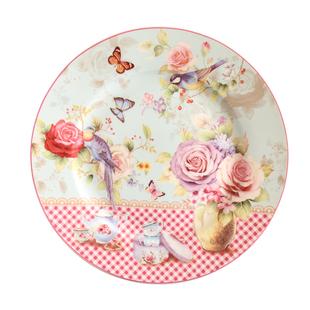 歐式鄉村田園骨瓷西餐盤子創意家用陶瓷菜盤8寸牛排盤餐具套裝