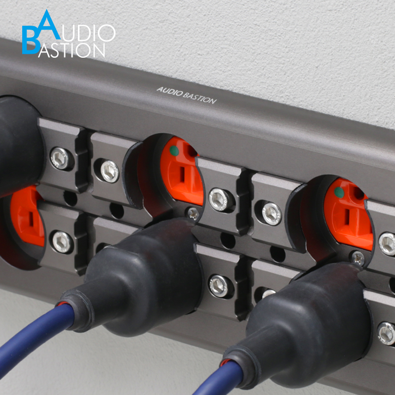 音响电源墙插面板固线夹Audio Bastion美标120国标86插座发烧避震
