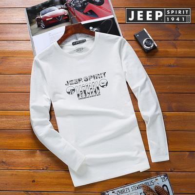 JEEP/吉普男装春季新品休闲圆领套头长袖针织T恤1808#P80