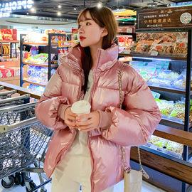 2019爆款亮面冬季外套女新款韩版休闲甜美减龄羽绒棉服潮流面包服