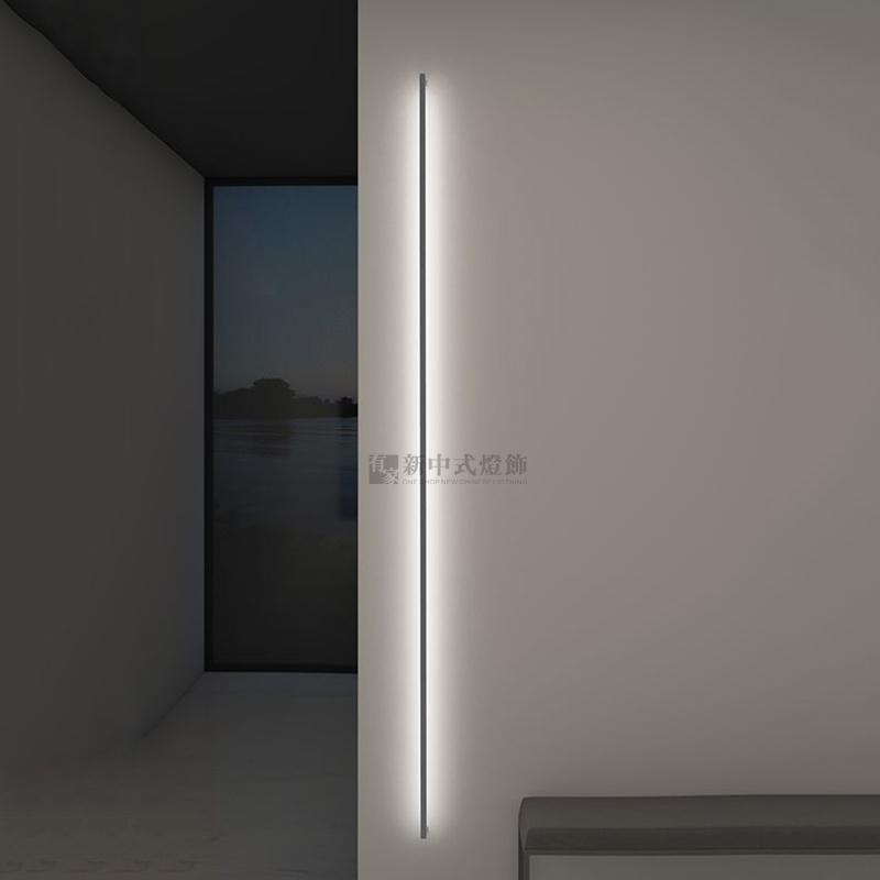 酒店样板房餐厅客厅转角软装定制灯几何长条壁灯LED上海现代简约