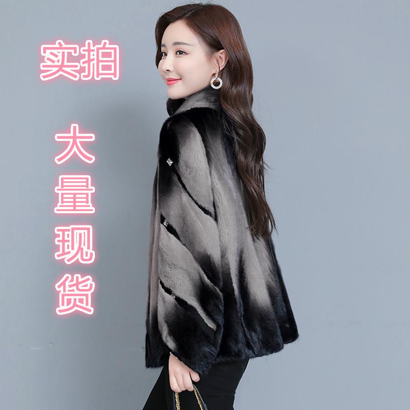 데일리룩 모피 여성용 크롭 코트 재킷 슬림