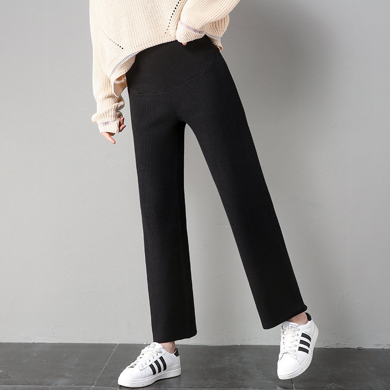 Xiguizi knitted Maternity Pants spring trousers Wool Fashion belly pants loose pregnant pants 6013