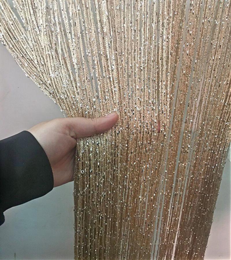 高档加密韩式成品客厅银丝线帘