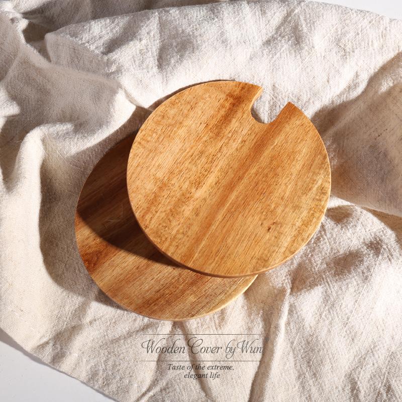 Войти сгущаться с ложкой отверстие кружка крышка охрана окружающей среды природный первобытный дуб крышка 9cm калибр общий чашки крышка