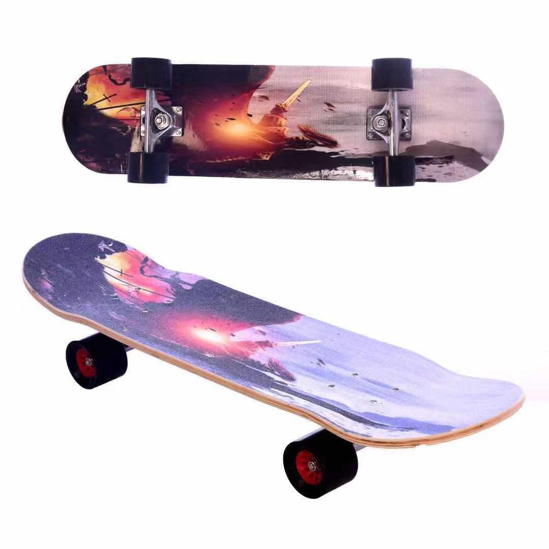 12-02新券专业活力滑板初学者成年人女生儿童青少年男孩短板四轮双翘滑板车
