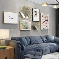 北欧风格客厅装饰沙发背景墙现代简约高档大气餐厅轻奢组合壁挂画