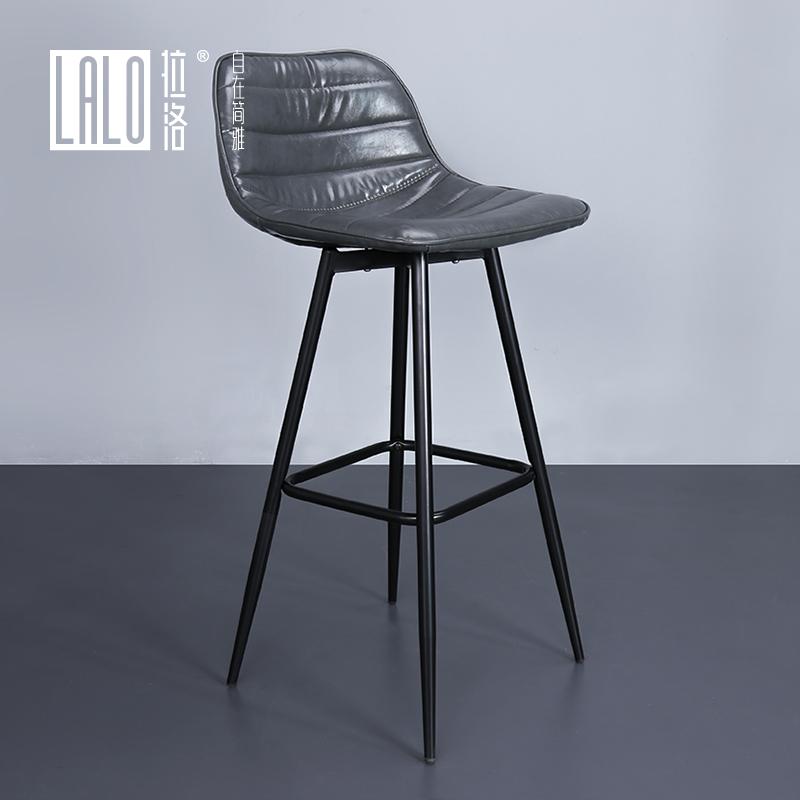 Тянуть река лошуй полностью стальной кожа мягкий чехол бар стул повышение с мягким подушка стул 76cm высота сиденья назад тайвань бар стул