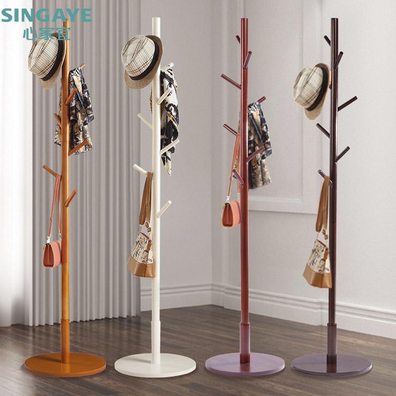 Каждый день специальное предложение вешалка этаж дерево вешалка творческий современный легко спальня весить одежду полка простой одежда полка