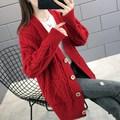 很仙女士网红毛衣开衫2021春秋季韩版宽松针织衫中长款毛衣外套女