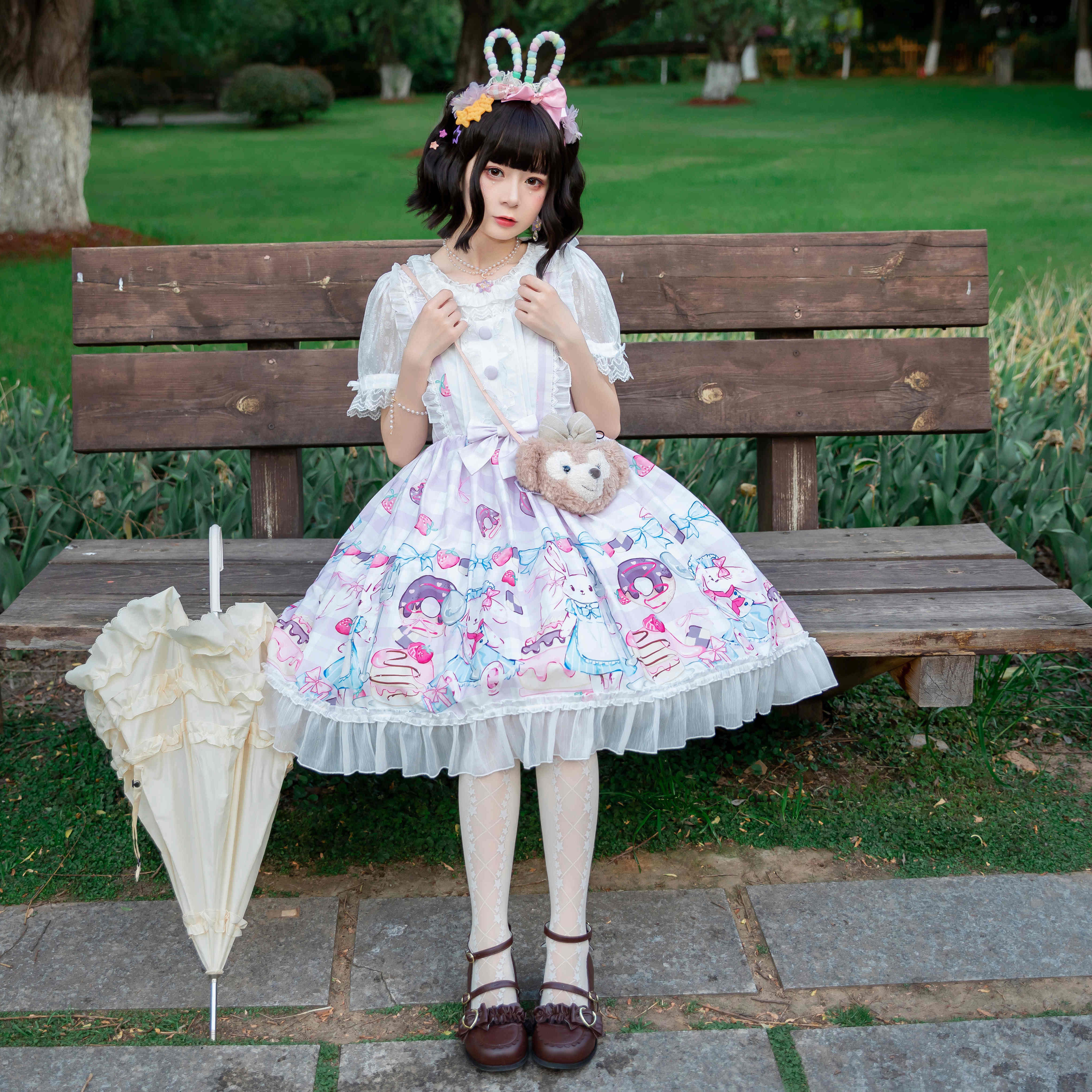 Sweet Lolita Dress Baby Fanta popcorn Wedding Tea Party Alice astrology cat star Loretta princess skirt