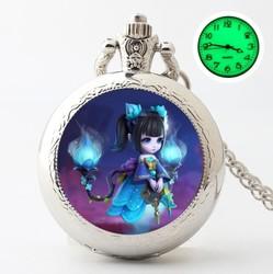 电池叶萝莉礼物叶罗丽时间公主怀表个性美少女精灵梦手表便携潮流