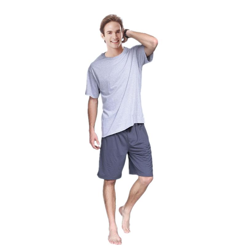 Hanes Hengshi mens short sleeve shirt suit casual t-blood mens simple summer vest mens loose solid color T-shirt