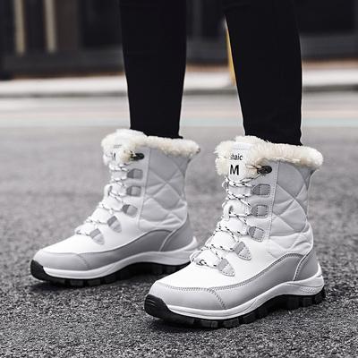 回力雪地靴女2020新款冬季保暖加绒加厚防水防滑东北户外滑雪棉鞋
