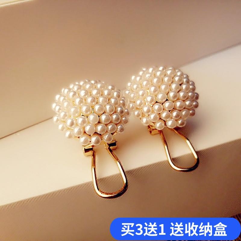五折促销2019新款潮s925纯银韩国半球形耳环