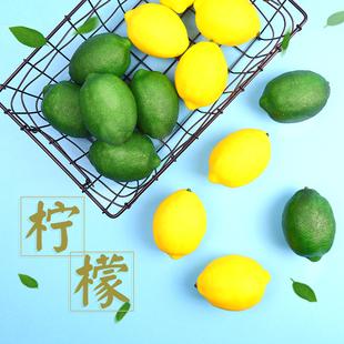 仿真柠檬水果食品美食拍照道具小摆件ins风拍图装饰创意饰品拍摄