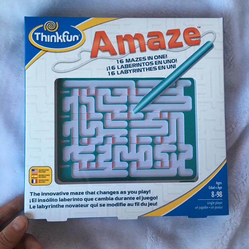 美国thinkfun运笔迷宫3D立体Amaze儿童智力玩具便携掌上迷宫8+
