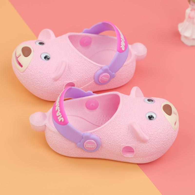 需要用券小童宝宝塑料凉鞋 包头男女童洞洞鞋儿童0-1-2-3岁婴幼儿软防滑夏