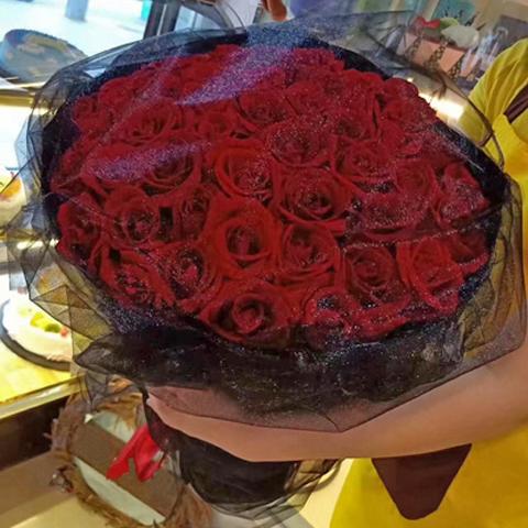 七夕情人节日红玫瑰鲜花礼盒花束同城速递送天津市宁河静海蓟州区