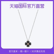 (Direct Battalion) Swarovski Swarovski collarbone chain Latisha black and white double-sided design flower necklace