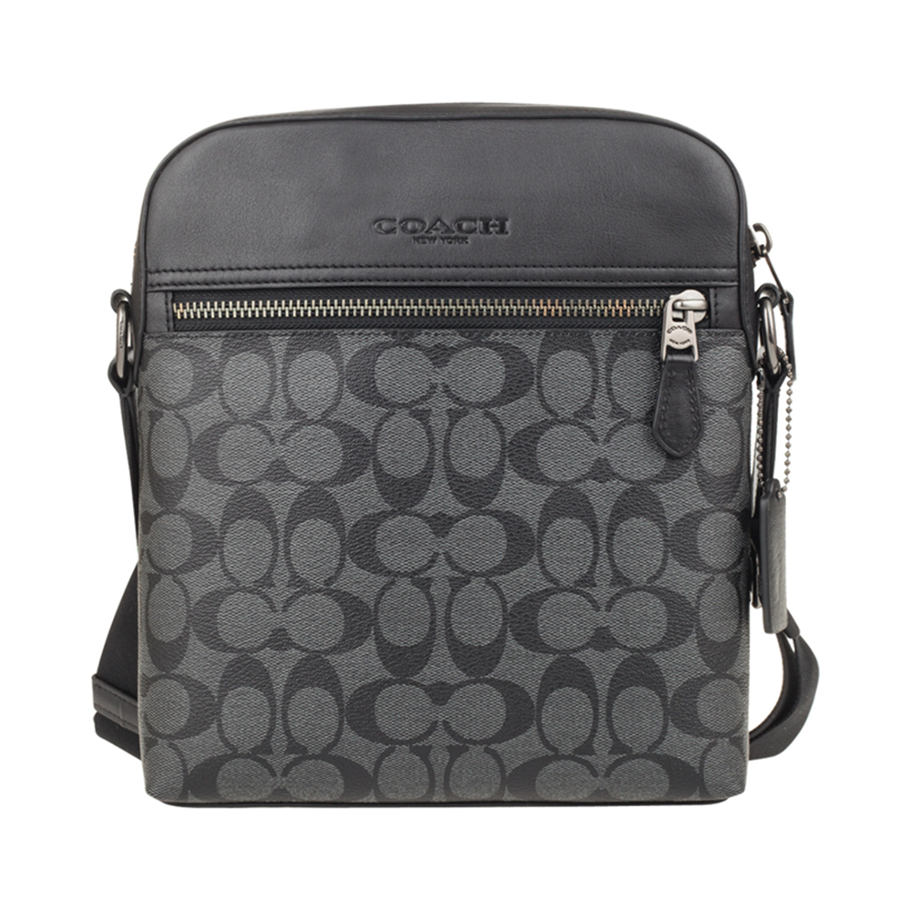 Direct sale coach Single Shoulder Messenger Bag men's business PVC old flower men's bag trendy versatile bag f7336