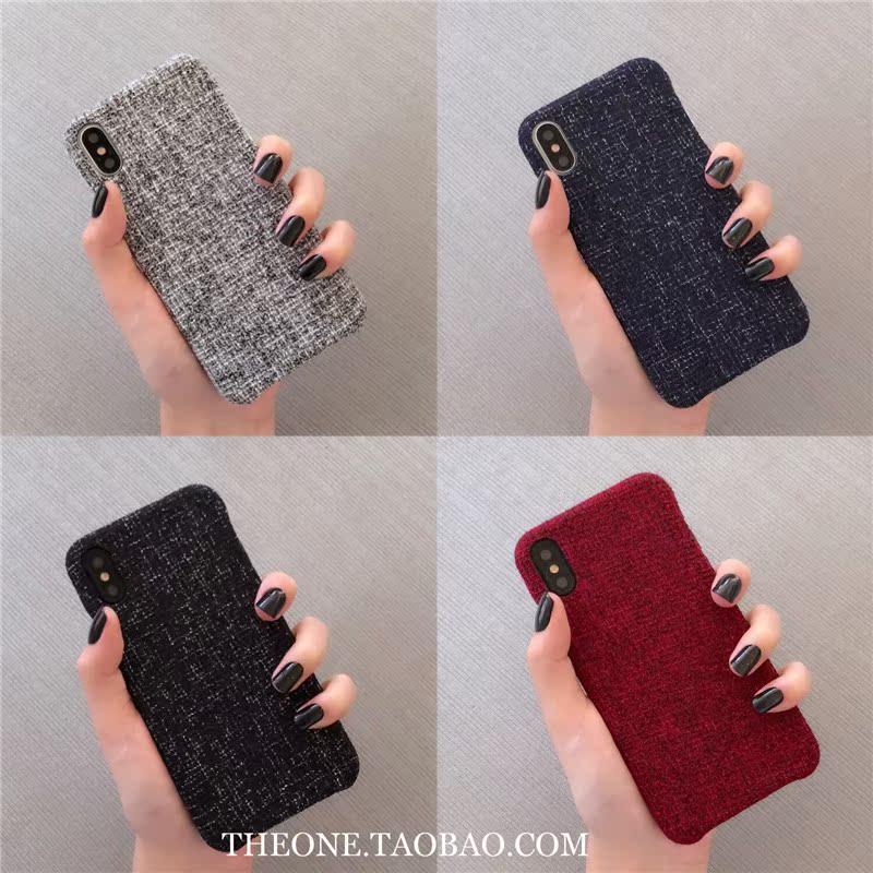 中国风苹果iphonexsmax小米8vivox21华为6s78plus手机壳绒布oppor