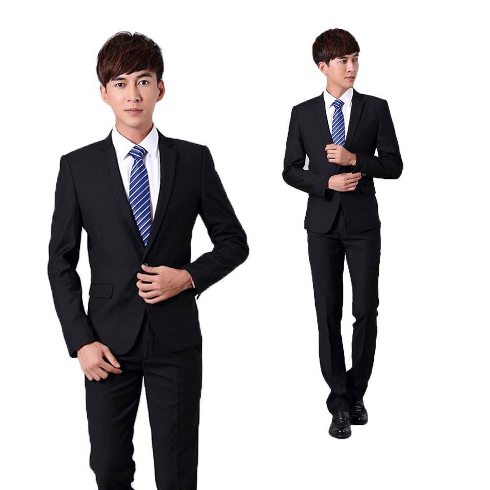 Boys Suit Black two button teacher interview uniform civil servant uniform hotel manager uniform
