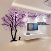 Creative tree 3d stereo acrylic wall stickers living room sofa TV background wall decoration warm indoor room