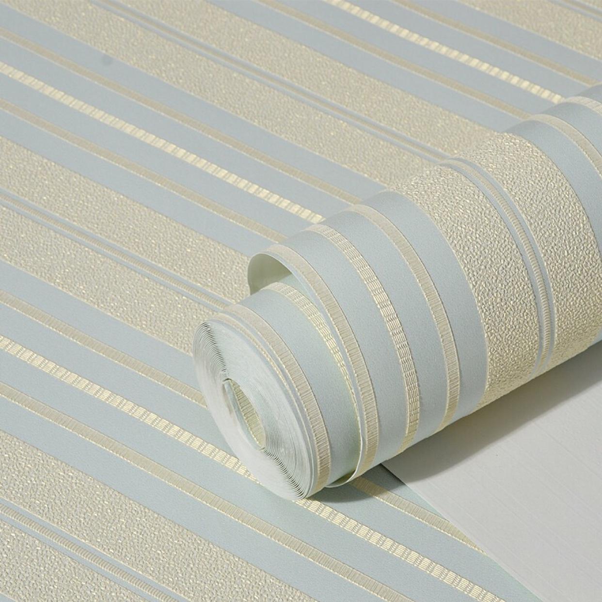 现代简约无纺布墙纸 3D精压竖条纹壁纸卧室客厅电视背景墙壁纸