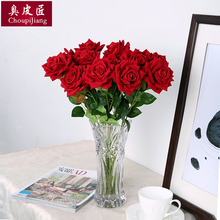 Simulation rose sets, bouquet, artificial flowers, roses, living room, table, flower arrangement, flower arrangement, dry flower decoration.