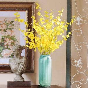 跳舞兰黄色仿真花束塑料绢花插花假花室内装饰花干花摆设客厅摆件