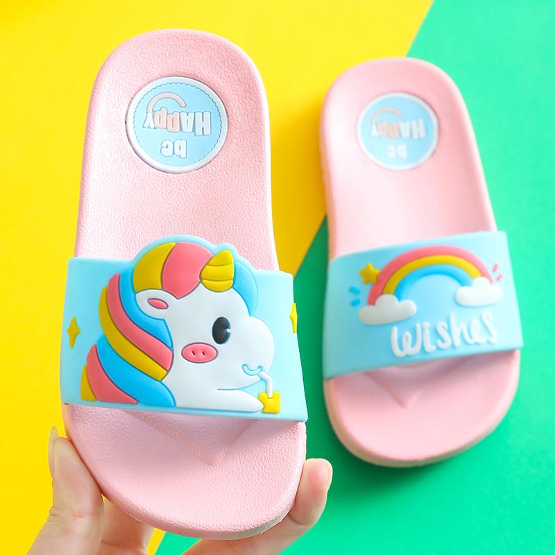 拖鞋儿童女夏季儿童防滑软底卡通可爱宝宝拖鞋一家三口亲子拖鞋3
