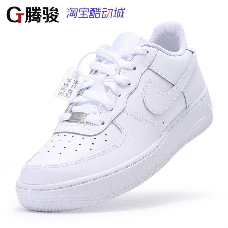 Nike Air Force 1 AF1 GS空军一号纯白低帮休闲板鞋女 314192-117图片