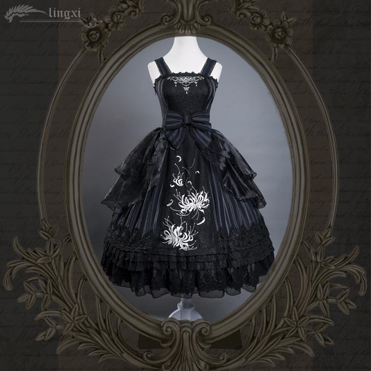 Original embroidery Lolita Gothic classic dress jsk Lingxi national brand