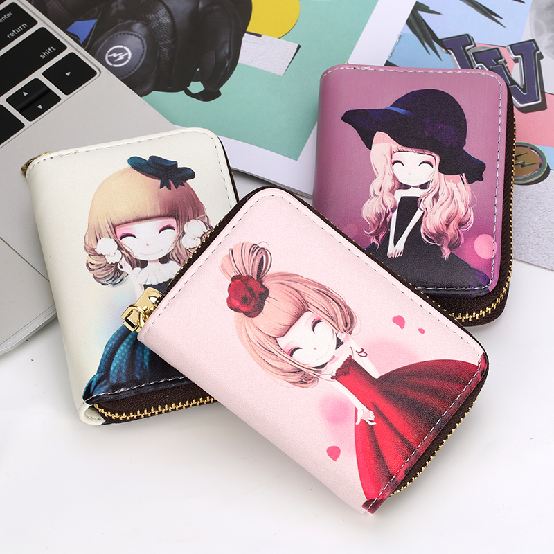 Cute small card bag wallet all in one bag womens 2018 new simple certificate position large capacity ultra thin card bag