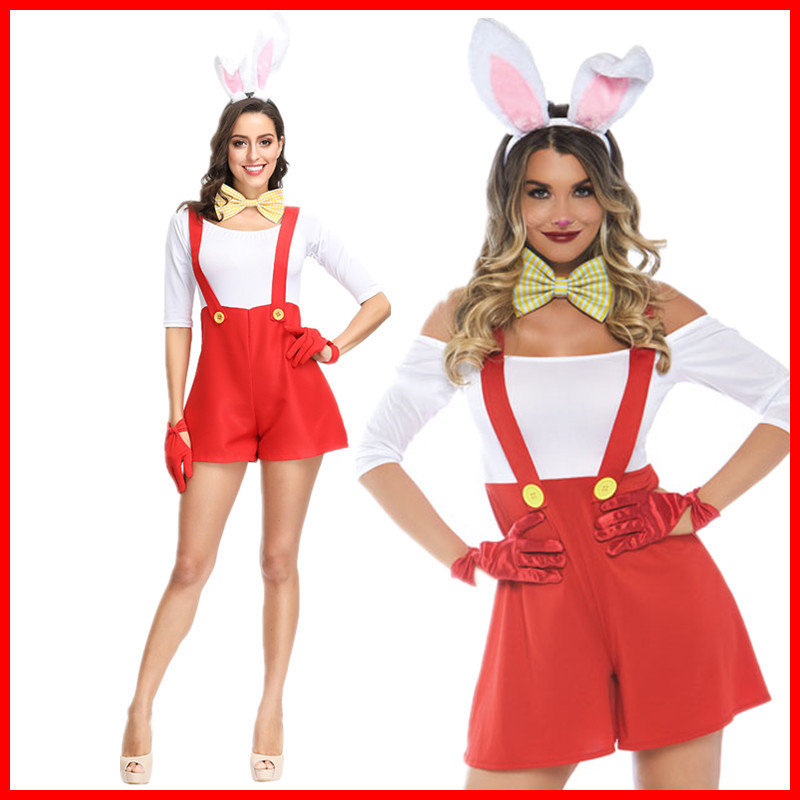 European and American new Halloween role play rabbit Girl Costume Cosplay animation costume game uniform ZK