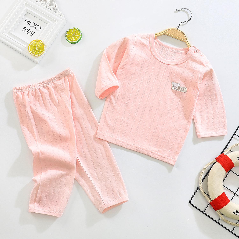 宝宝纯棉家居服夏季薄款婴儿短袖套装小童纯棉空调服男女儿童睡衣