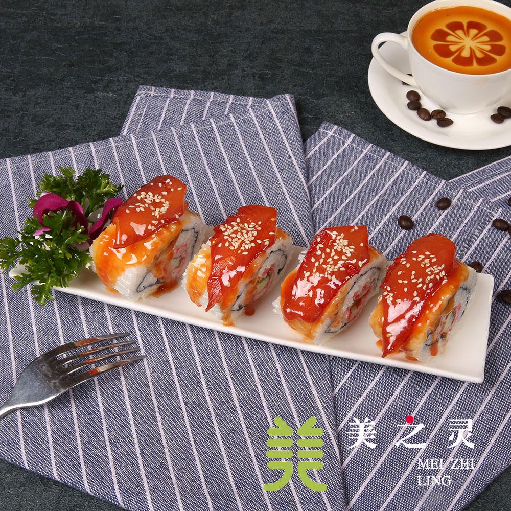 新品 日韩料理定制 仿真鳗鱼寿司食物食品模型 展示样品假菜